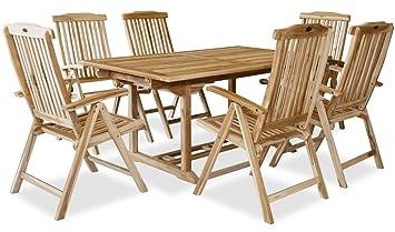Gartentisch Für 6 Personen.Kmh Teak Gartensitzgruppe Mit Ausziehbarem Gartentisch Für 6 Personen 102206