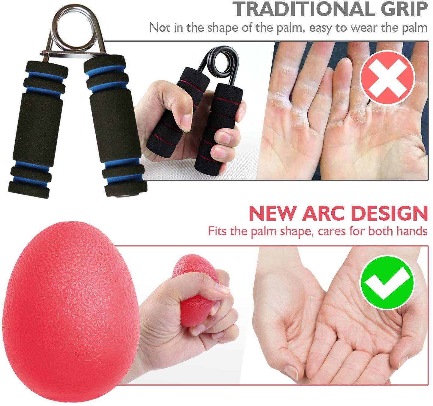 Arthrose-Training Finger- Handgelenk- Hand-Therapie-B/älle 3er-Set Handtrainer Press-Ball
