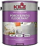 KILZ Interior/Exterior Enamel Porch & Patio Latex Floor Paint, Low-Lustre, Slate Gray, 1 gallon