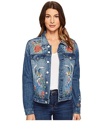 Blank NYC Women's Denim Embroidered Jacket in Wild Child Wild Child  Outerwear