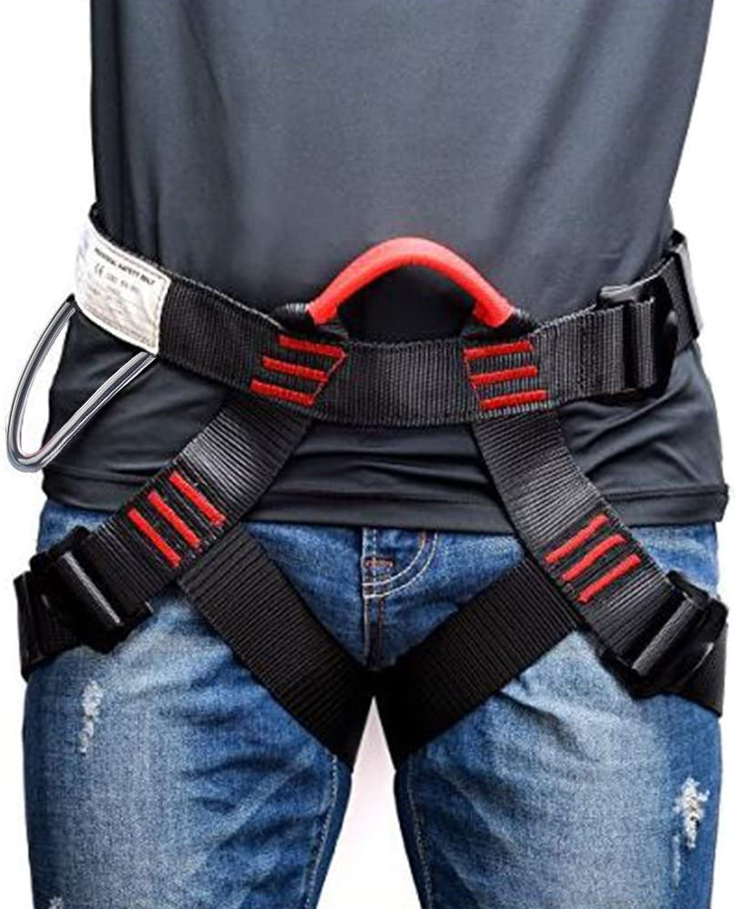 Weanas Thicken Climbing Harness, Protect Waist Safety Harness, Wider Half Body Harness for Mountaineering/Fire Rescuing/Rock Climbing/Rappelling/Tree Climbing : Sports & Outdoors