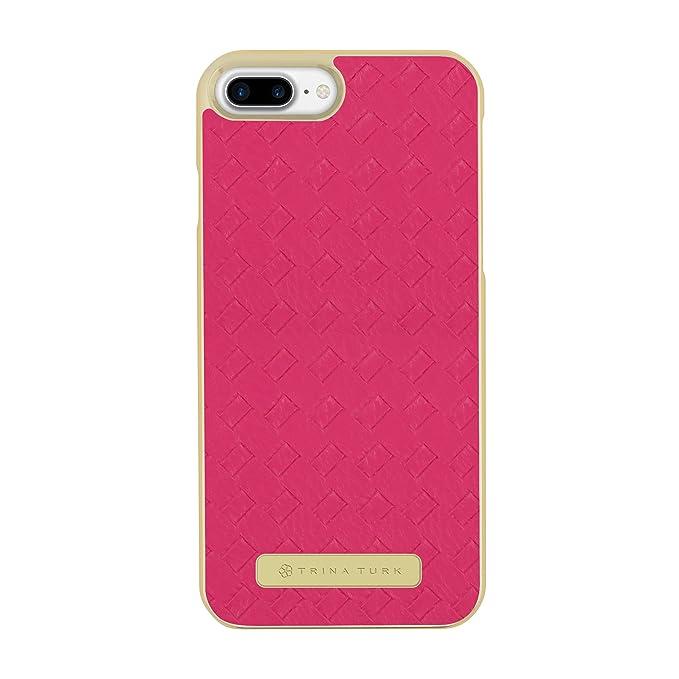 competitive price db03d 7bddb Trina Turk iPhone 7 Plus Case, Basket Weave Case [Protective] Designer  Cover fits Apple iPhone 7 Plus - Fuchsia