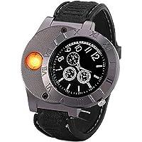 Findtime Men Digital USB Cigarette Lighter Watch Novelty Windproof