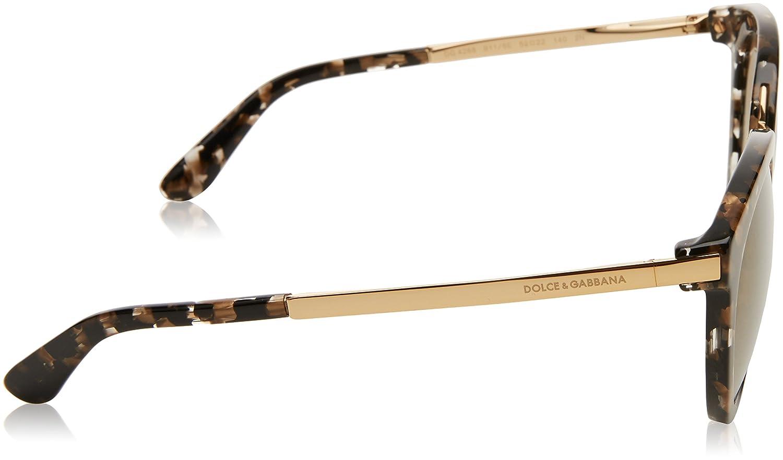 Amazon.com: Dolce & Gabbana Mujer dg4268 52 Multicolor/oro ...