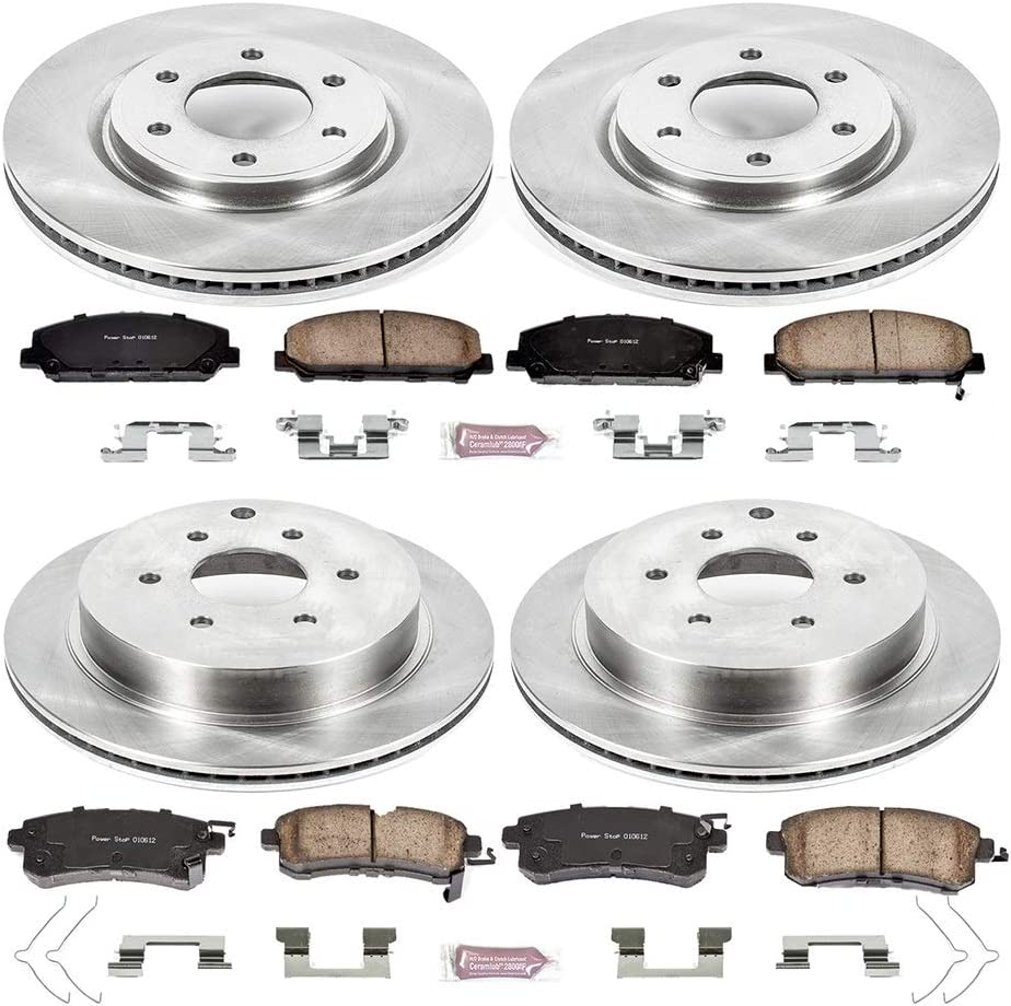 Autospecialty Koe6322 Daily Driver 1 Click Oe Replacement Front Rear Brake Kit Performance Parts Accessories Brake Kits