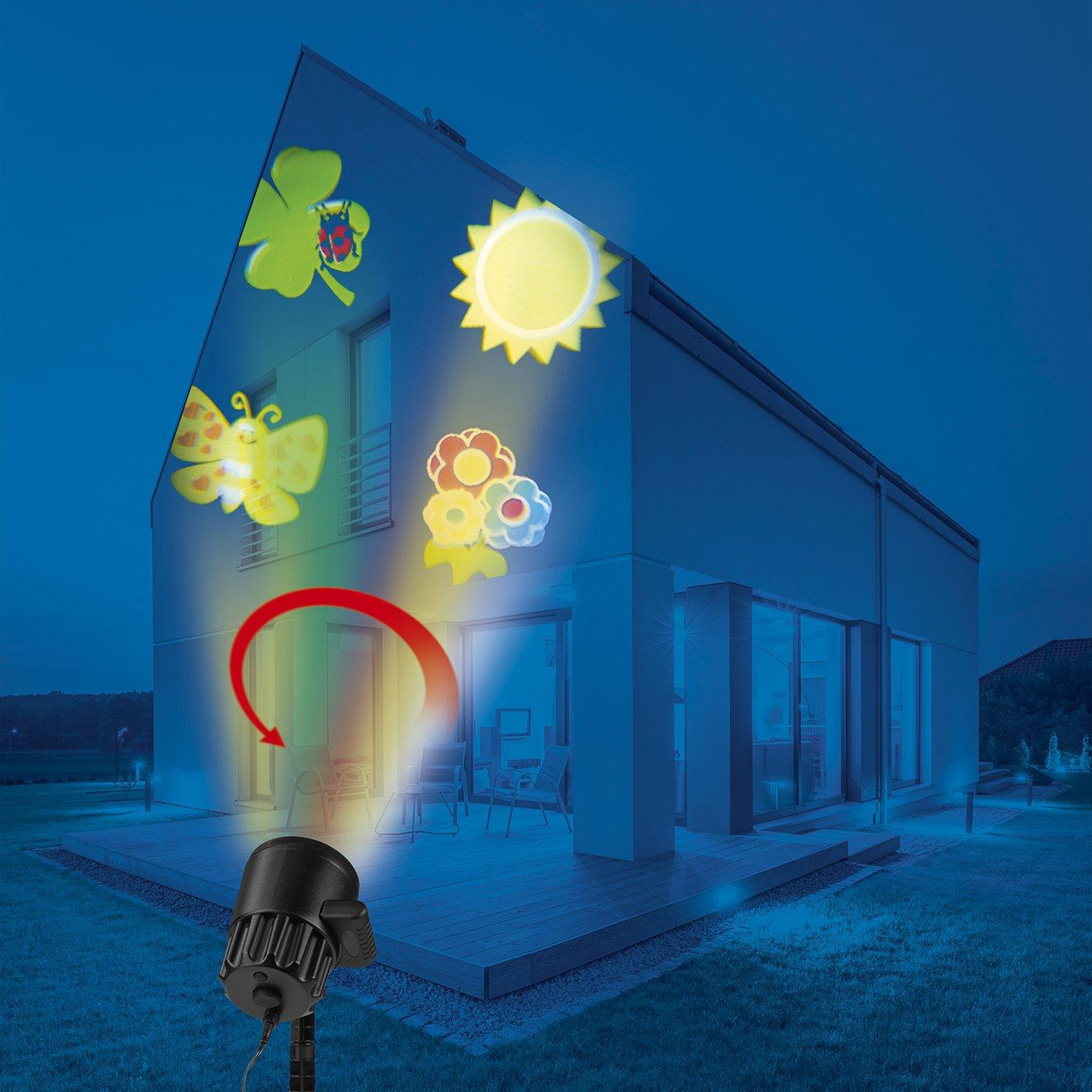 EASYmaxx 06207 LED Projektionslampe Sternenhimmel | Projektor fü r mehrfarbige Lichteffekte | Beleuchtung mit Farbwechsel & Fernbedienung | Wasserdicht