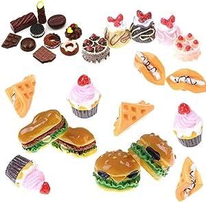 27 Pcs Miniature Food Mini Hamburgers Food Models Dollhouse Miniature Dessert Dollhouse Accessories Classic Toy Hamburger Toy