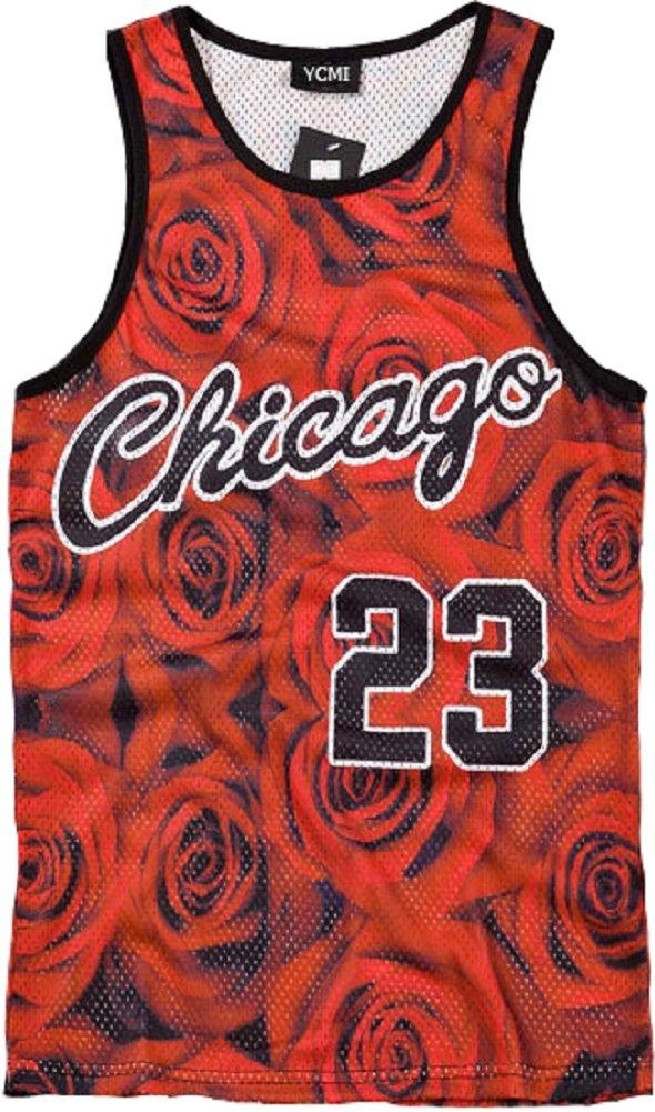 YCMI Hip Hop Men's Chicago Jordan 23 Gym Tank Tops Undershirt Basketball Jerseys