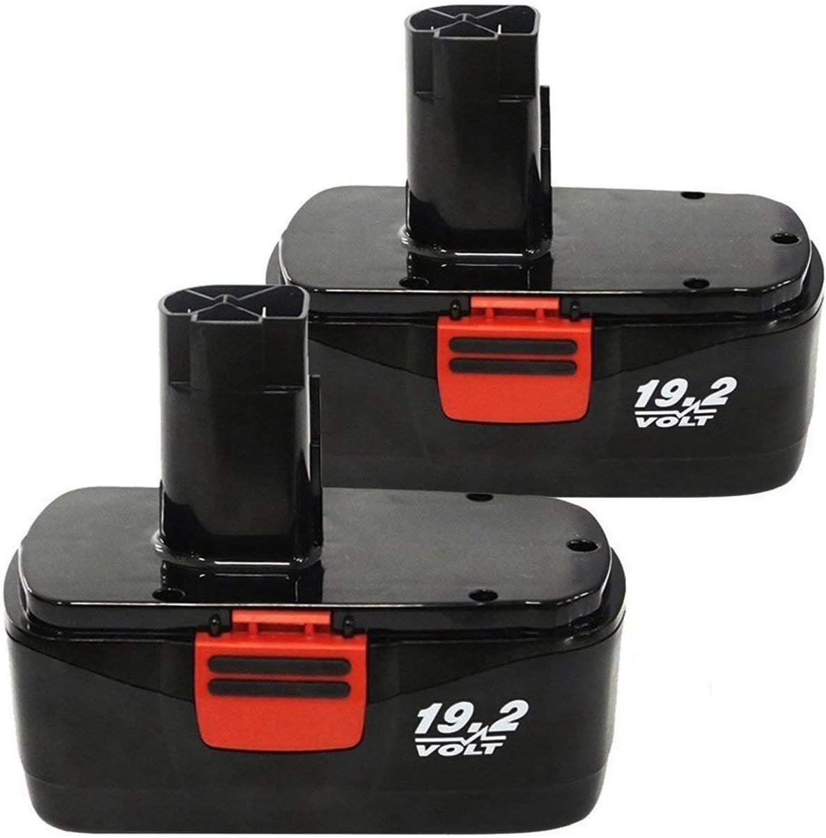 Enegitech 2 Pack 19.2V 3.0Ah C3 Replacement Battery for Craftsman DieHard C3 315.115410, 315.11485, 315.114852, 130279005, 11375, 11376, 11045, 1323903