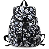MoreChic Women Girls Floral Print Casual Canvas Backpack Rucksack Cute School Backpack