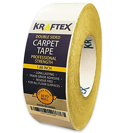 New: Original Carpet Tape 90ft Roll, for Rugs, Mats, Pads, Runners