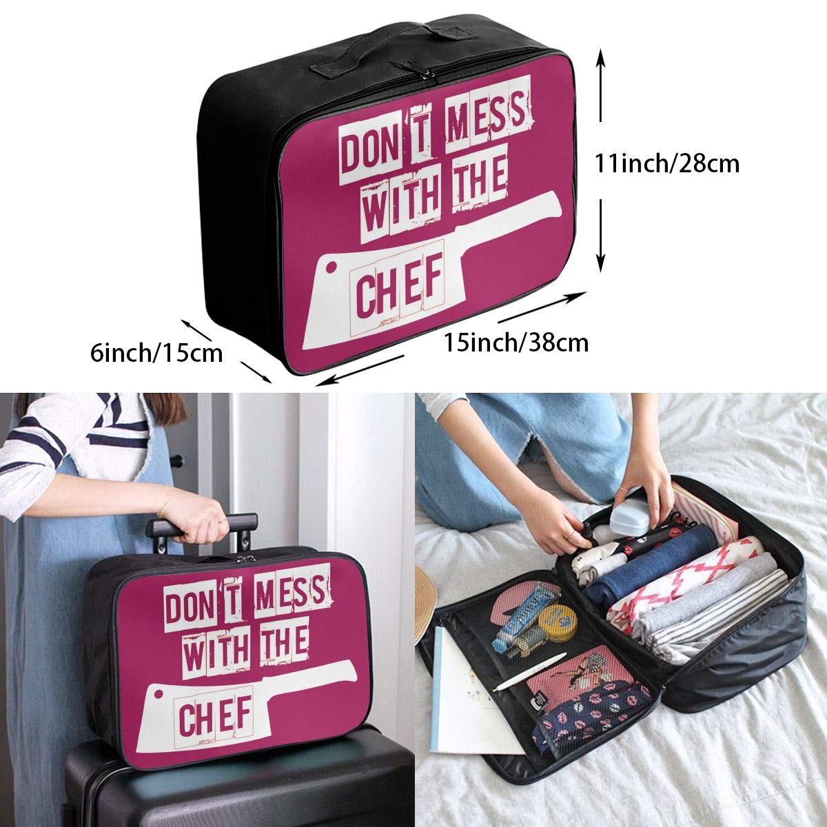 Travel Luggage Duffle Bag Lightweight Portable Handbag Dont Mess Large Capacity Waterproof Foldable Storage Tote