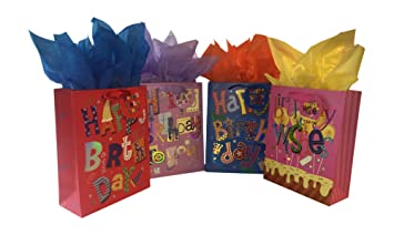 Amazon Gift Bags With Tissue Tags And Birthday Cards Bundle