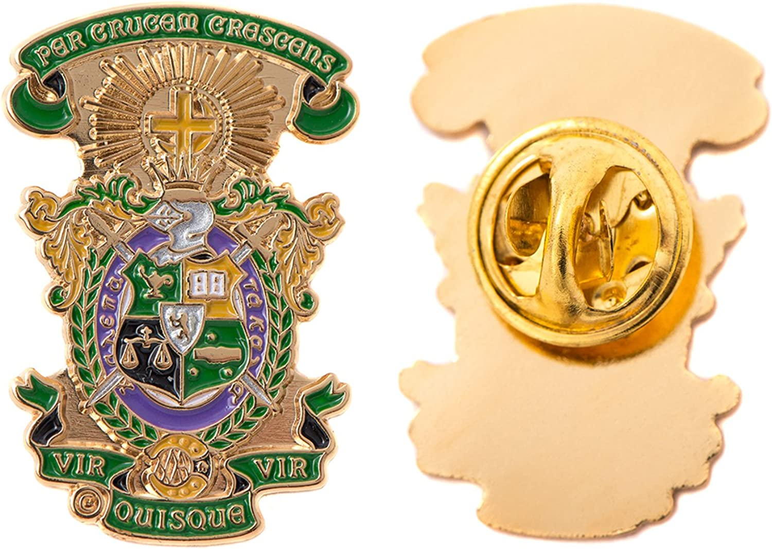 Desert Cactus Lambda Chi Alpha Fraternity Lapel Enamel Greek Formal Wear Blazer Jacket Lambda Chi (Crest Pin)