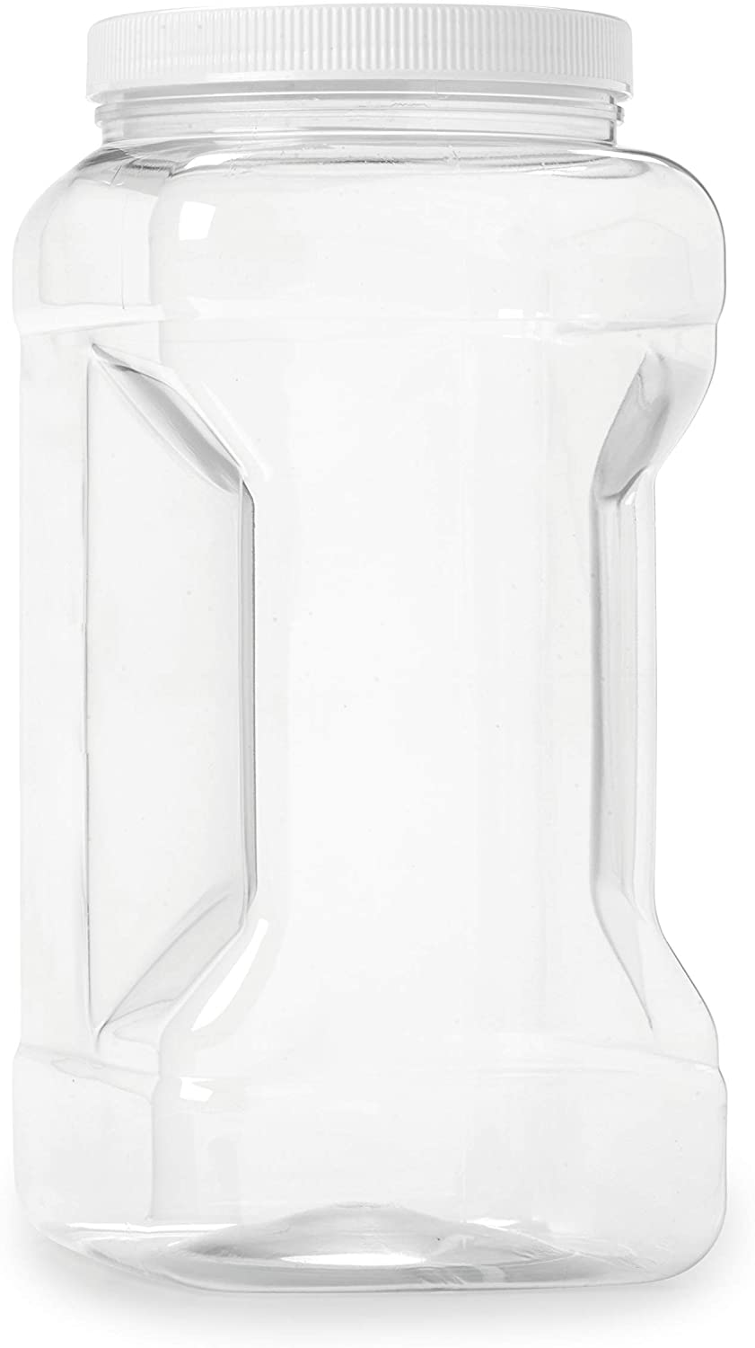 Empty 1 Gallon Jar w/Airtight Leakproof Plastic Lid - Wide Mouth Easy to Clean - BPA Free & Dishwasher Safe - USDA Certified - Sun Tea, Fermentation, Food Storage, 1790, 1PK