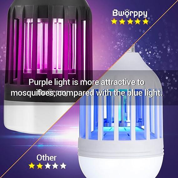 Amazon Bworppy Bug Zapper Light Bulb Mosquito Killer