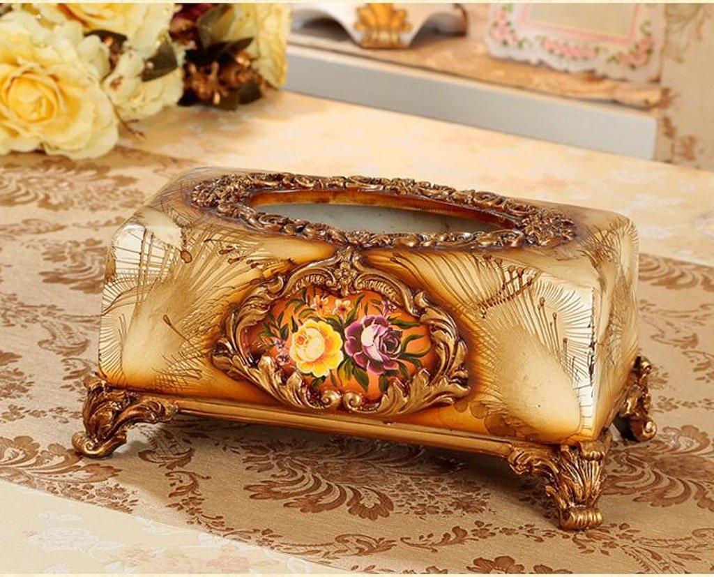 Hyun times European high-grade resin carved tissue box napkin box fashion creative home decor retro luxury pumping tray by Hyun times tissue box (Image #2)