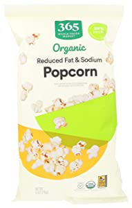 365 by Whole Foods Market, Organic Popcorn, Reduced Fat & Sodium, 6 Ounce
