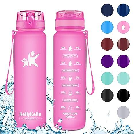 500ml Sport Water Cup Water Bottle Flip Straw Drink Bottle Hiking Bike Plastic