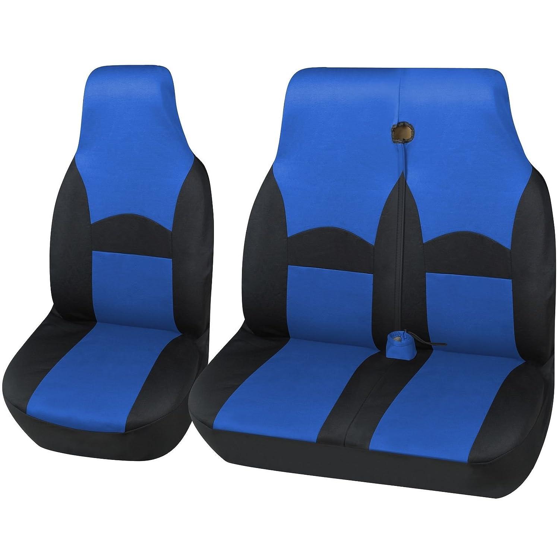 VAUXHALL VIVARO LWB SPORTIVE DELUXE GREY RACING VAN SEAT COVERS 2+1