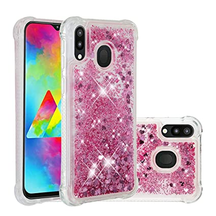 Phone Bags & Cases Rational For Samsung Galaxy M20 Case Liquid Glitter Quicksand Glitter Clear Stars Diamond For Samsung M20 Cover Floating Sparkle Flowing Cellphones & Telecommunications
