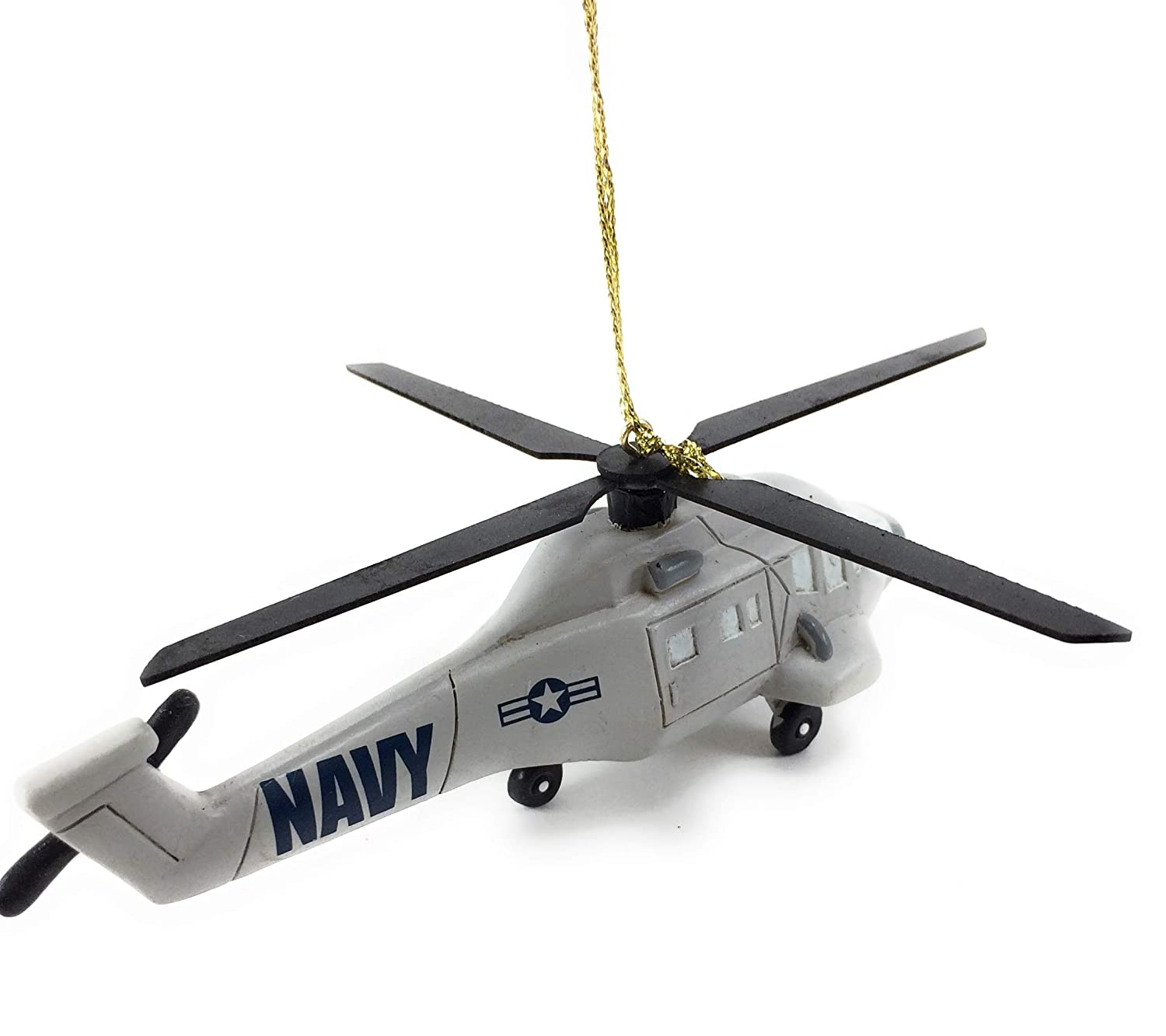 Kurt Adler U.S Navy Helicopter Ornament NA2182
