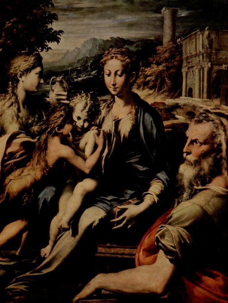 Lais Puzzle Parmigianino - Thronende MaDamens, Hl. Zacharias, Hl. Johannes der Täufer und Hl. Maria Magdalena 2000 Teile