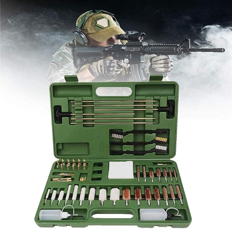 Bolsa de escopeta que acampa, Kit de limpieza de armas con estuche portátil, pistola Rifle de tiro Pistola Airgun Airgun Spray Arma de fuego Barril Mantenimiento Kit de limpieza Barra de latón, gran c