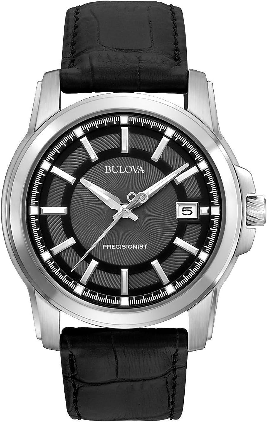Bulova Men s 96B158 Precisionist Leather Strap Watch