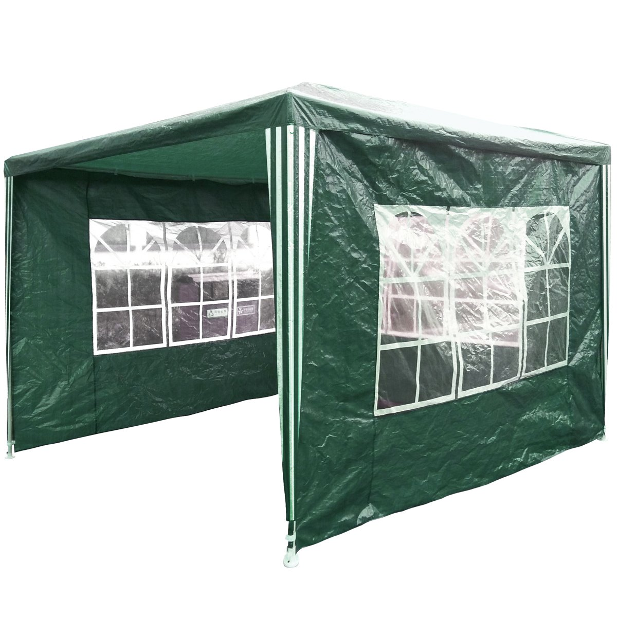 Charles Bentley 3M X 3M Gazebo Awning Wedding/Party Tent - Green Showerproof PE Charles Bentley Garden