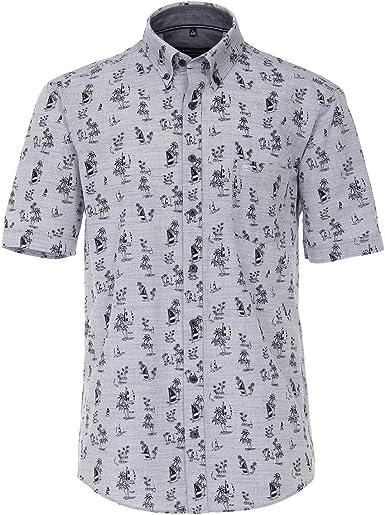 Casamoda Camisa de Manga Corta Navy Melange Summer Print XXL ...