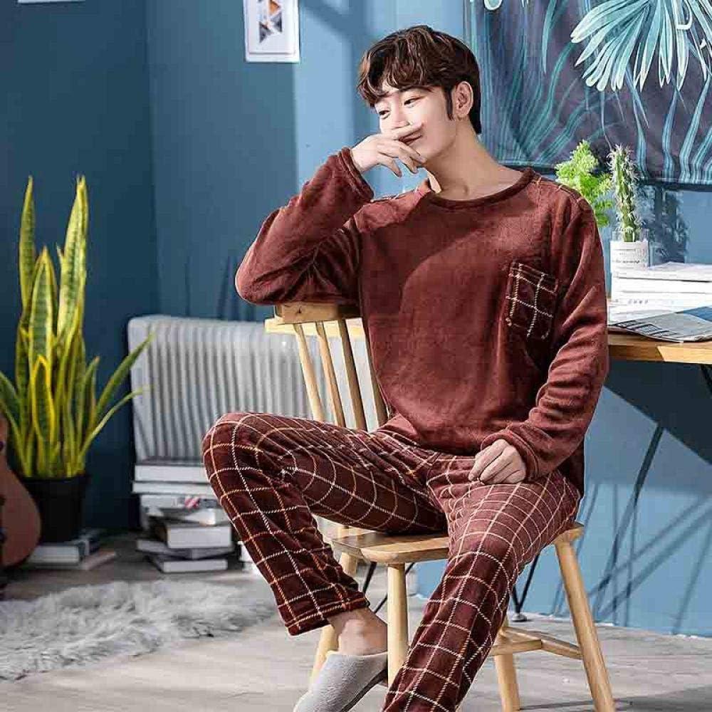 Zara Lew - Pijama para Hombre, de Manga Larga, Coral ...
