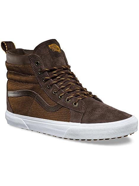 84cecd26a2 Vans Men s Sk8-Hi MTE High Top Sneakers Brown in Size US 9.5  Amazon ...