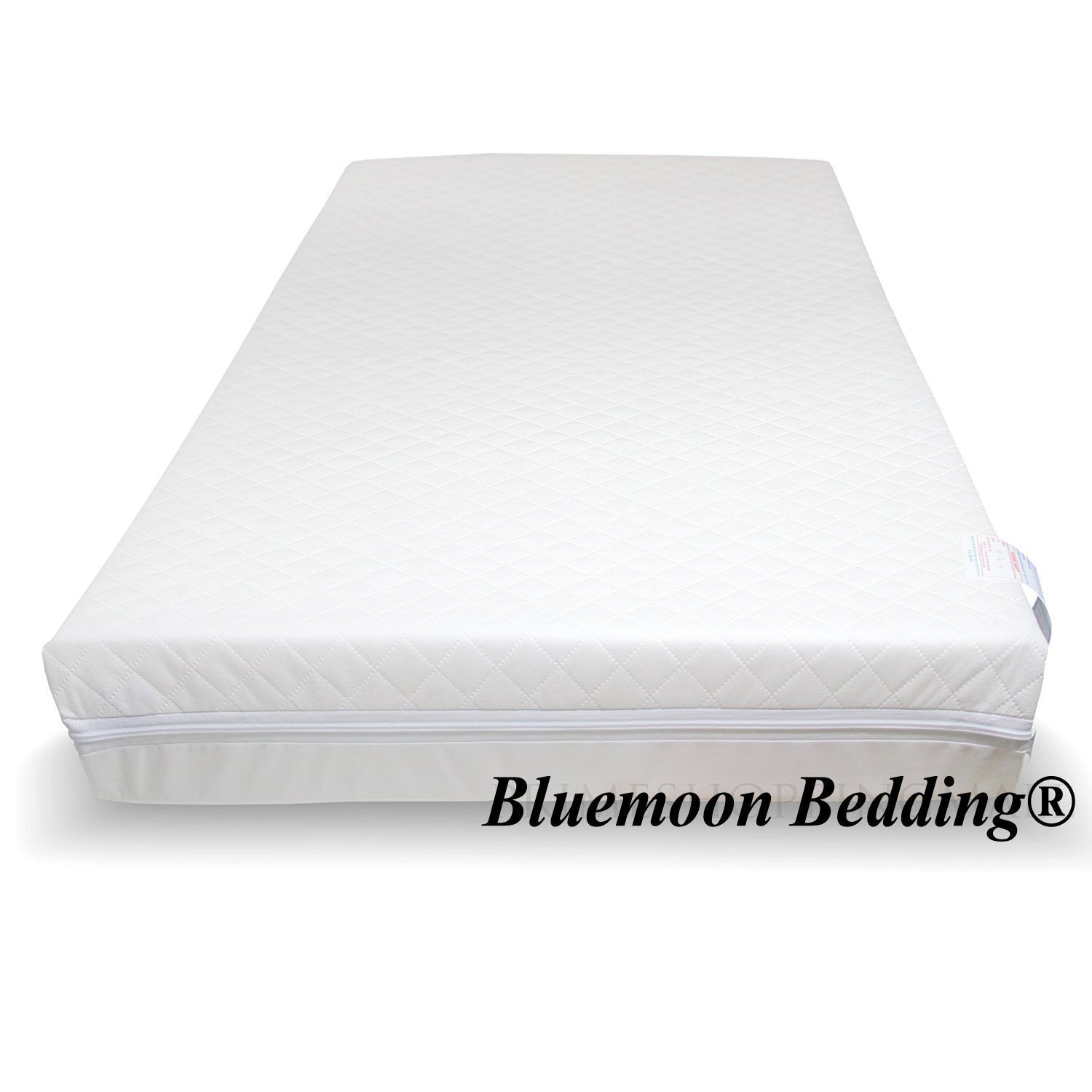 Baby Travel Cot Mattress 110 x 54 x 10 CM QUILTED Breathable Antiallergenic - UK Made - ATM-Baby Brand TOPSTYLE