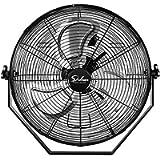 Simple Deluxe 18 Inch Industrial Wall Mount Fan, 3 Speed Commercial Ventilation Metal Fan for Warehouse, Greenhouse…