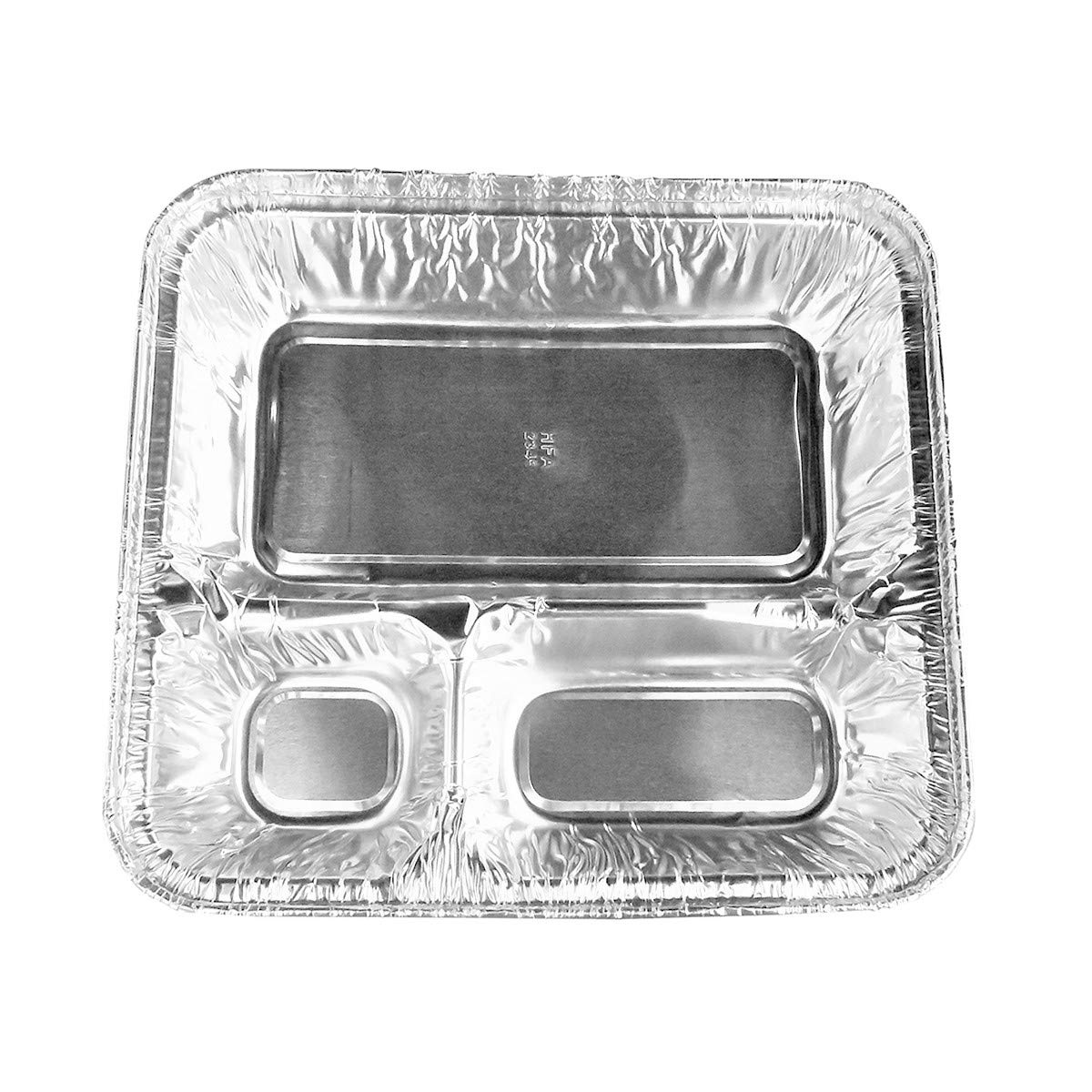 Disposable Aluminum X-Large 3 Compartment T.V. Dinner/Food Storage Trays by Handi-Foil (100)