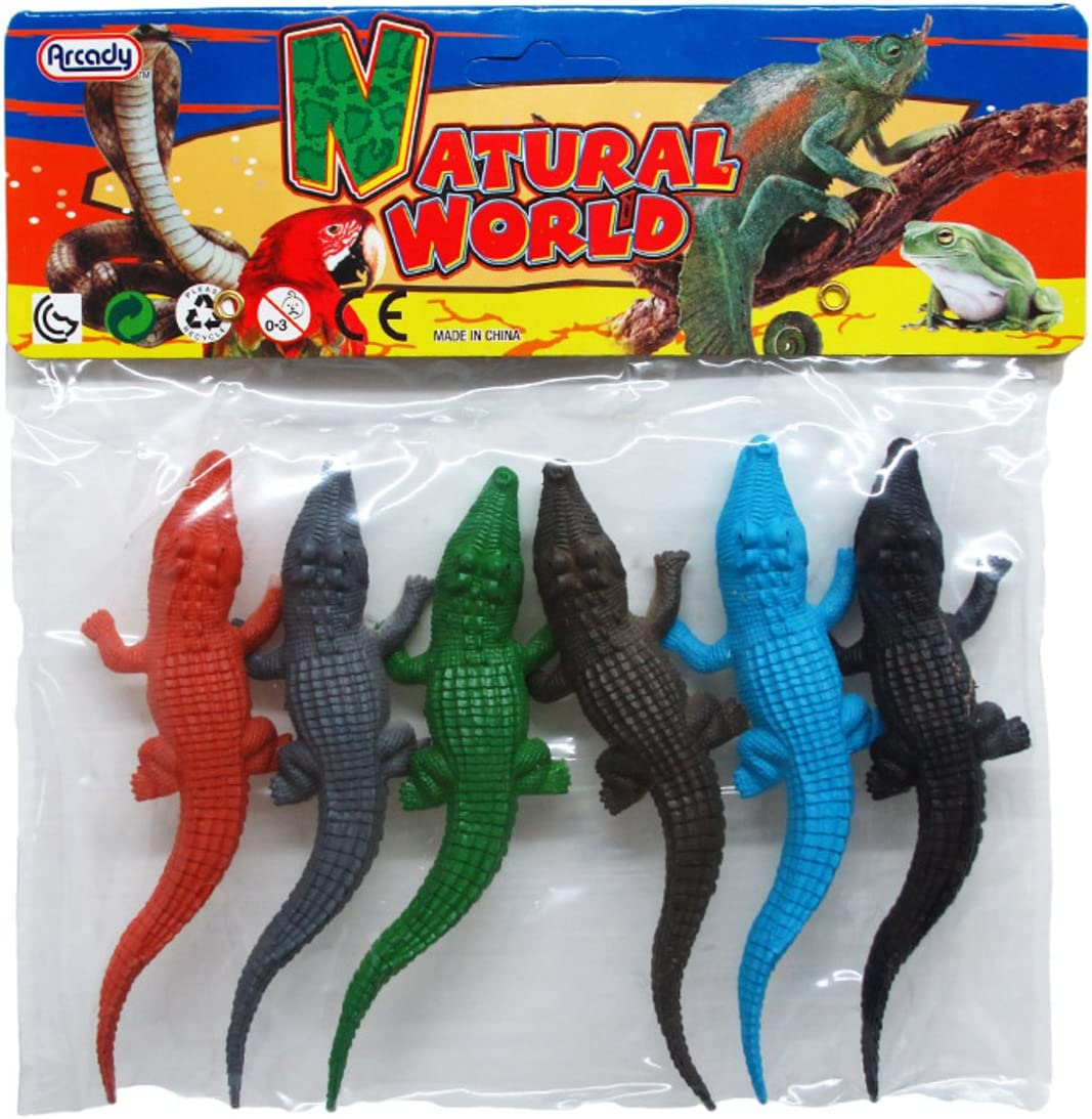 "Jumbo Extra Large 10/"" Vinyl Toy Alligator Toy Figures For Kids 1 Dozen Alligator"