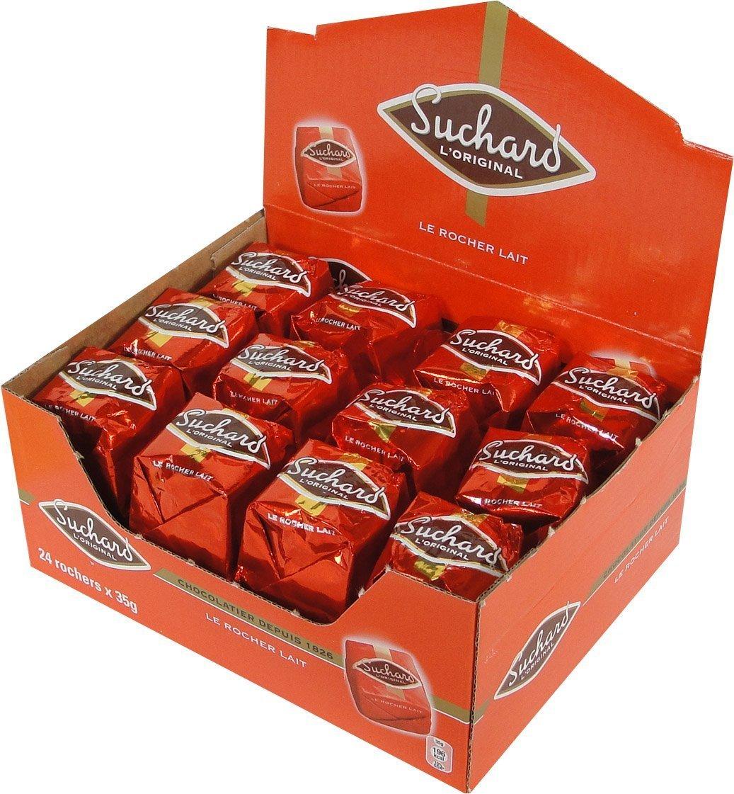 Suchard Rochers Milk Chocolate Case - 1.85 lb - 24 pieces (2 PACK)