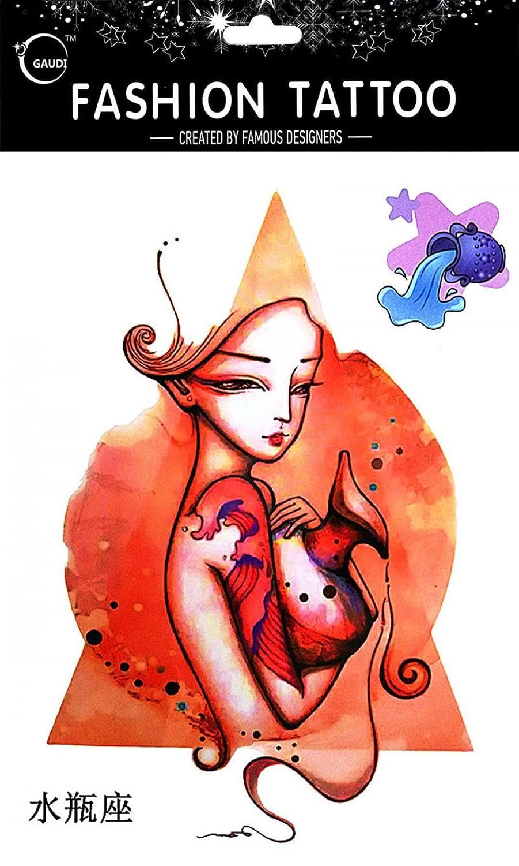 Tatuajes Temporales Para Diferentes constelación acuario de 12 ...