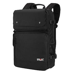 Lifeasy Travel Backpack, Laptop Backpacks Flight Approved Weekender Carry on Business Rucksack Multipurpose Trip Bag with USB Charging Port (Black)