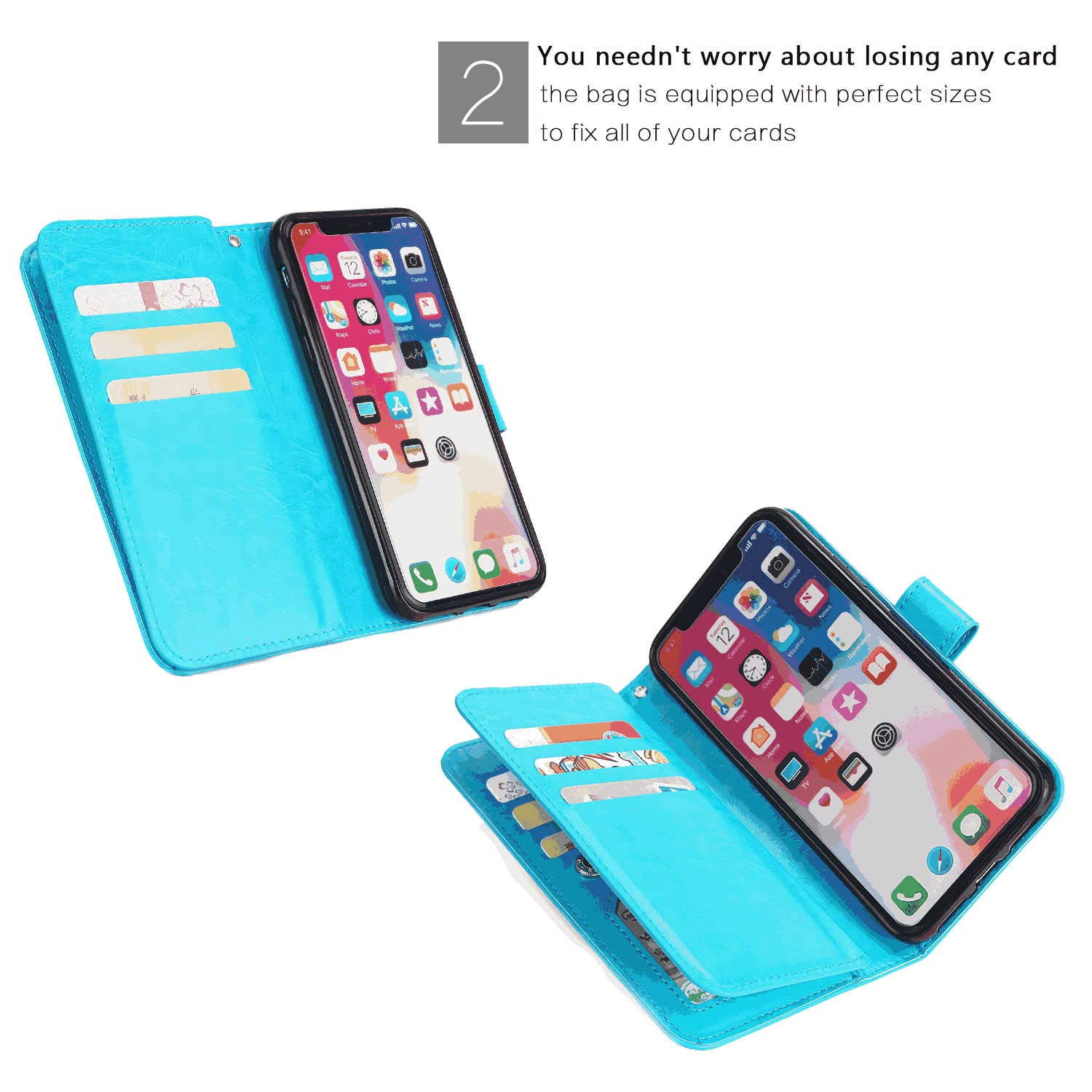 PU Leather Flip Case for iPhone 11 Pro Max Durable Soft Wallet Cover for iPhone 11 Pro Max