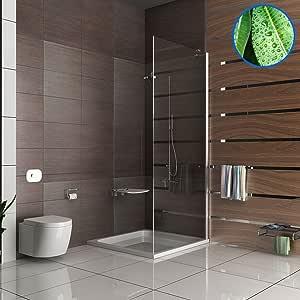 Mampara ducha con cabina de ducha de 100 x 195 cm ducha puerta de vaivén de los lados de la parte: Amazon.es: Bricolaje y herramientas