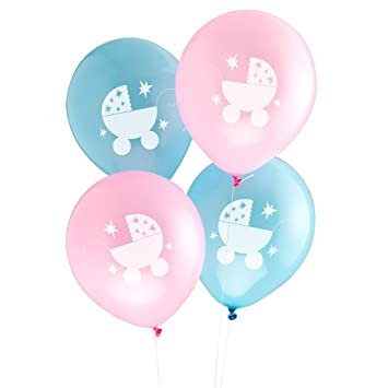 Attractive Tiny Feet Baby Shower Party Balloons X 8