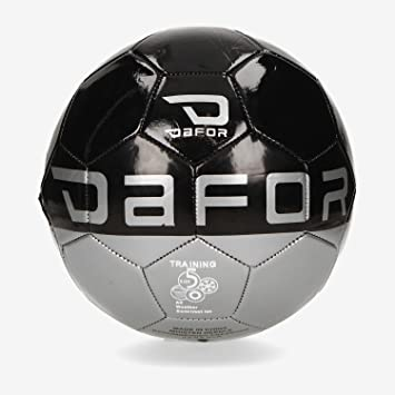 Dafor Balón Fútbol Negro Gris (Talla: 5): Amazon.es: Deportes y ...