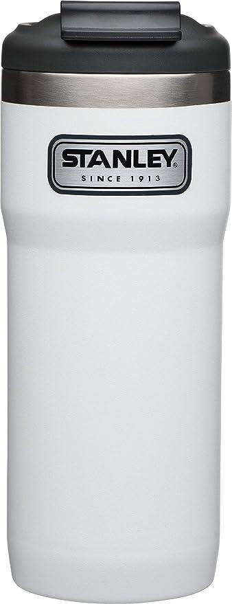 Doppelwandig Vakuumisoliert Stanley Legendary Classic Vakuum-Thermobecher mit Verschluss-B/ügel 18//8 Edelstahl 0.47 L Isolierbecher Kaffeebecher Teebecher Trinkbecher