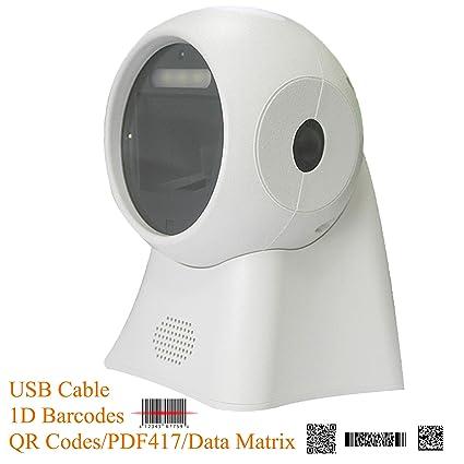 BQ-103 Omnidirectional Barcode Scanner 1D/2D QR PDF417 Data Matrix Code  Automatic Scanning,USB CableDirectly Use for Supermarket,Retails Shop