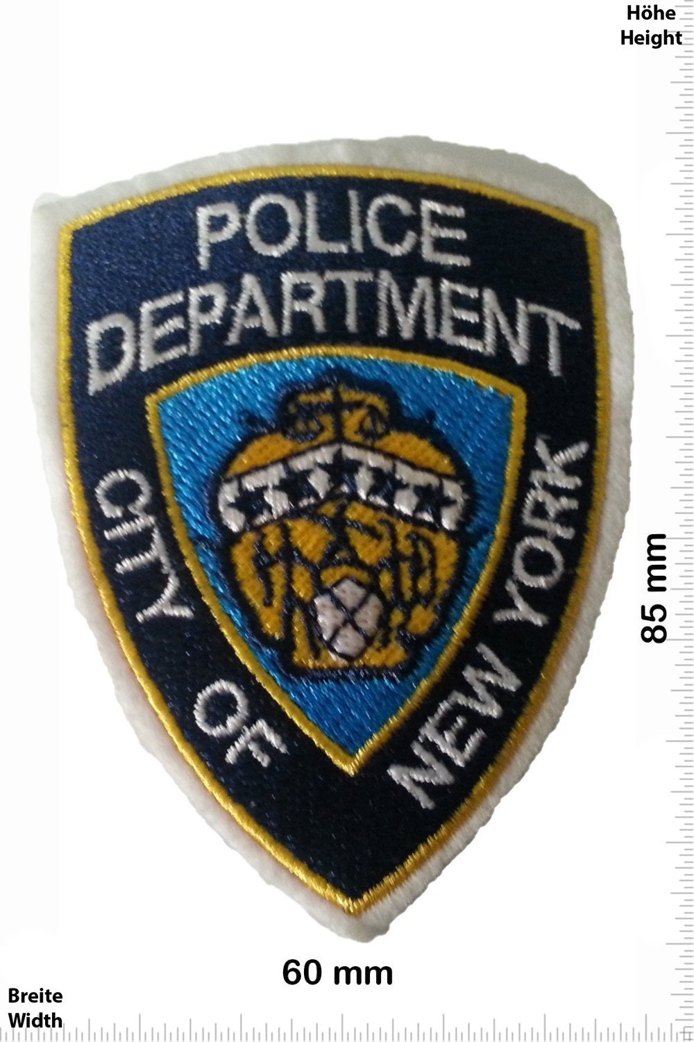 Police New York POLICE OFFICER Patches Applique embroidery /Écusson brod/é Costume Cadeau- Give Away Police and Law Patches Vest Iron on Patch