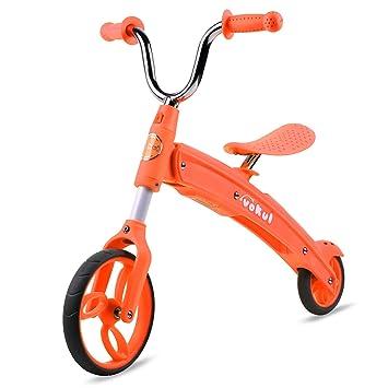Vokul Kid Niños Equilibrio Trainning bicicleta para edad 2 – 5 – Plegable y fácil transporte