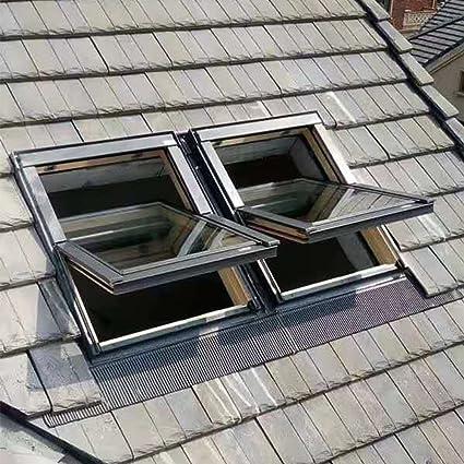 Madera de madera ventana de techo 78 x 118 cm intermitente ...