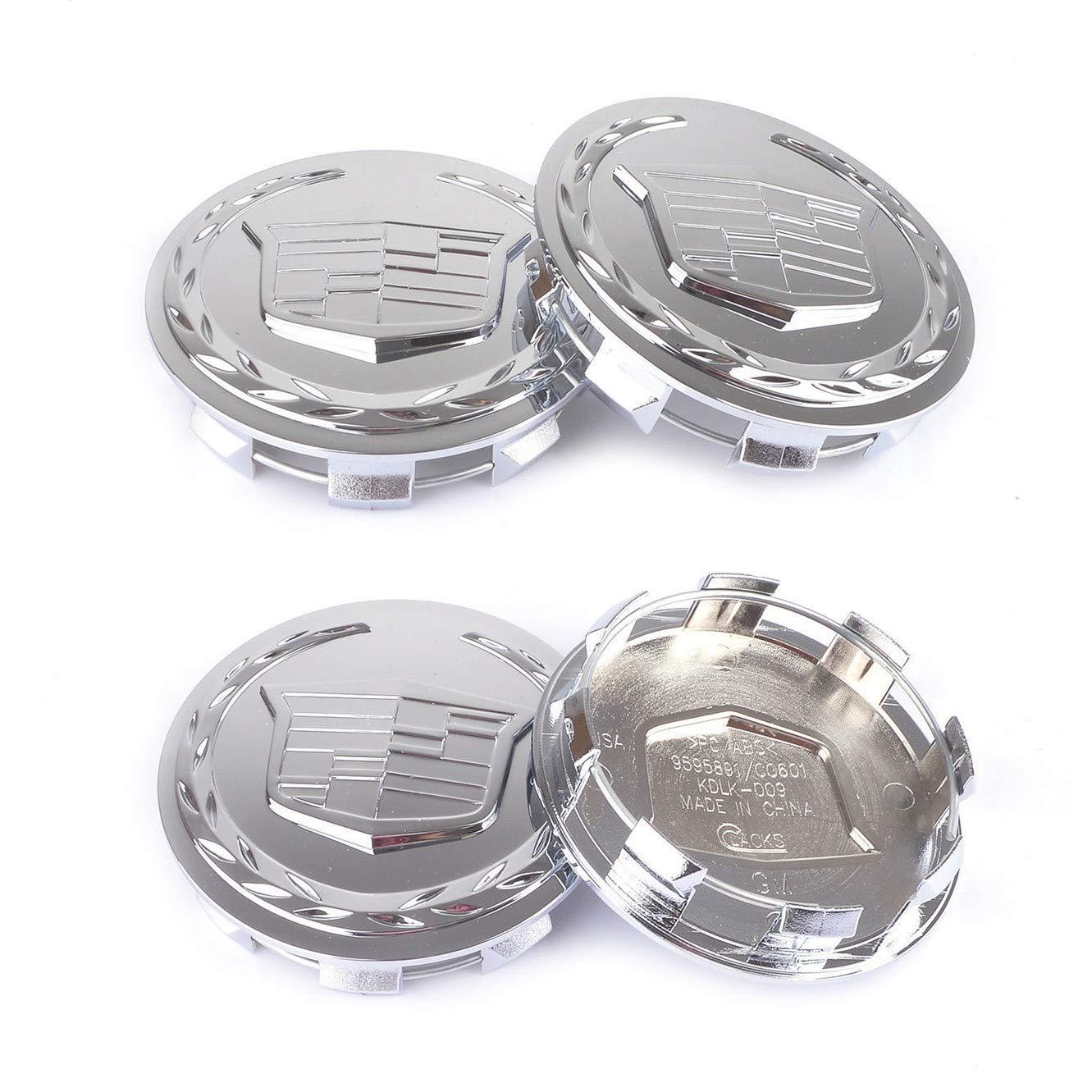 LIANGMAN 4pcs 83mm 3.25 inch Chrome Car Wheel Center Hub Caps for Escalade ESV EXT